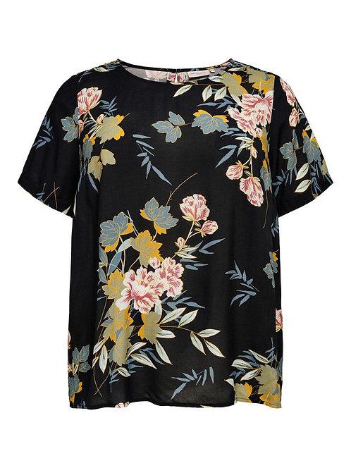 ONLY CARMAKOMA - Curvy-Tunikabluse mit Blumenprint
