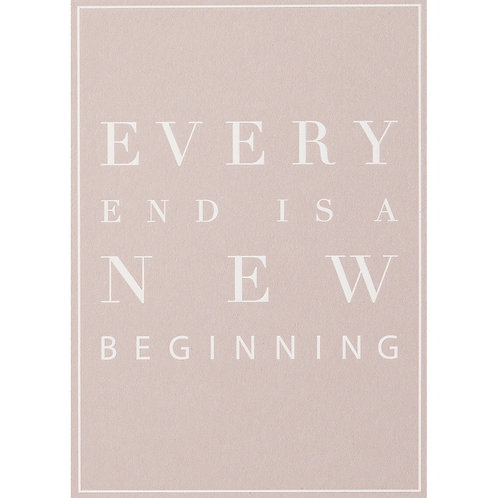 "RÄDER - Postkarte ""Every end is a new beginning"""