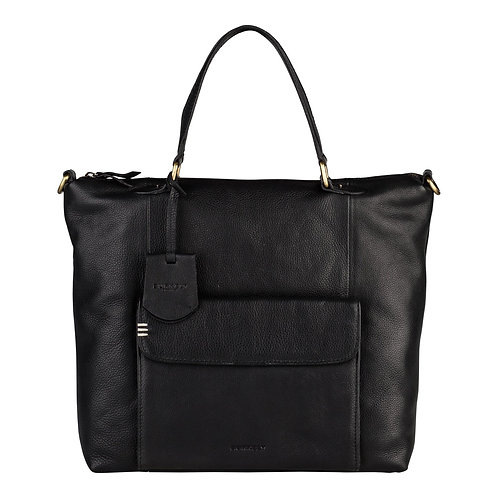 """Tasche """"Craft Caily Hobo Shopper"""" von Burkely - Leder / Farbe Schwarz"""