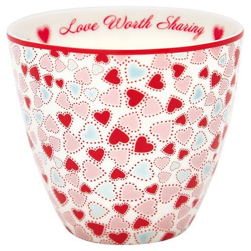 Greengate Lattecup - Love White