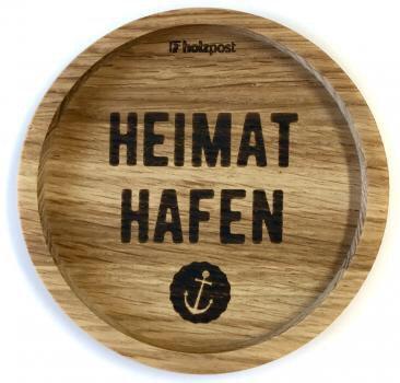 Holzpost - Untersetzer aus Eichenholz - Heimathafen