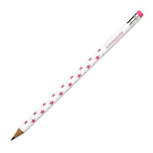 """Bleistift """"Sterne pink"""" von Krima & Isa"""