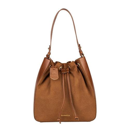 "Tasche ""Soul Skye Bucket Bag"" von Burkely - Leder / Farbe Cognac"