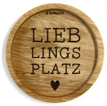 Holzpost - Untersetzer aus Eichenholz - Lieblingsplatz