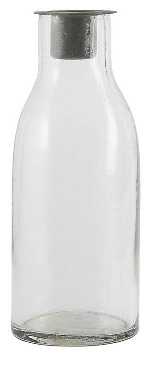 Flasche mit losem Kerzeneinsatz für Stabkerze von Ib Laursen
