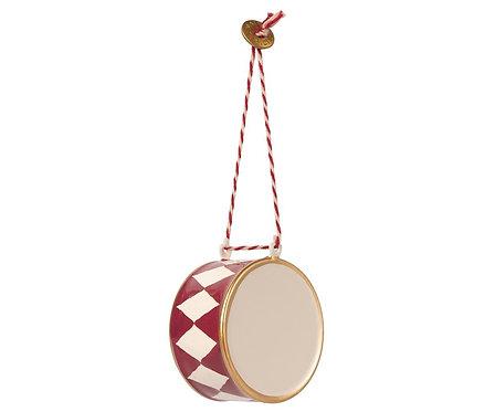 "Maileg - Weihnachtsanhänger ""Große Trommel"" aus Metall - Rot"