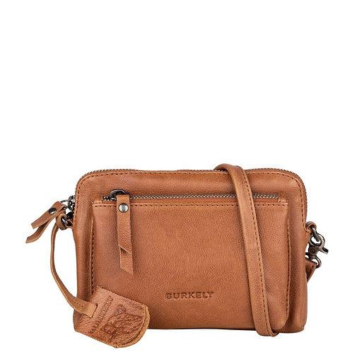 "Burkely - Ledertasche ""Just Jackie Minibag"" - Cognac"
