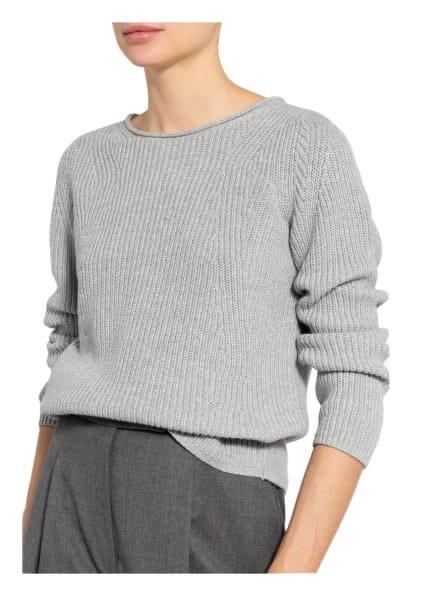 Oui - Pullover aus Strick - Grau