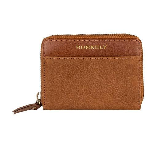 "Portemonnaie ""Soul Skye Wallet S"" von Burkely - Leder / Farbe Cognac"