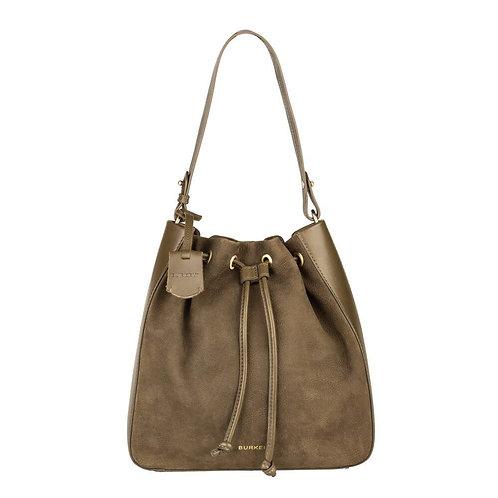 """Tasche """"Soul Skye Bucket Bag"""" von Burkely - Leder / Farbe Grün"""