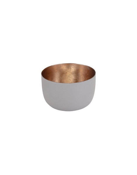 """Kopie Windlicht """"Madras"""", Größe S - Sandstone/Gold"""