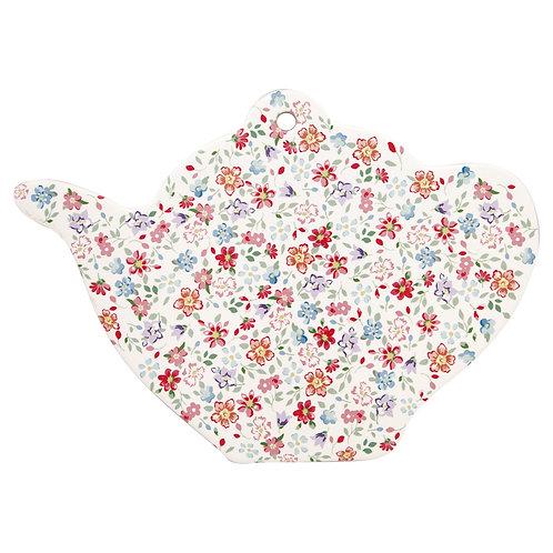 GreenGate - Porzellanbrett Teekanne - Clementine White