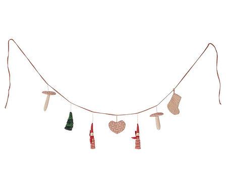 Maileg - Weihnachtsgirlande aus Stoff