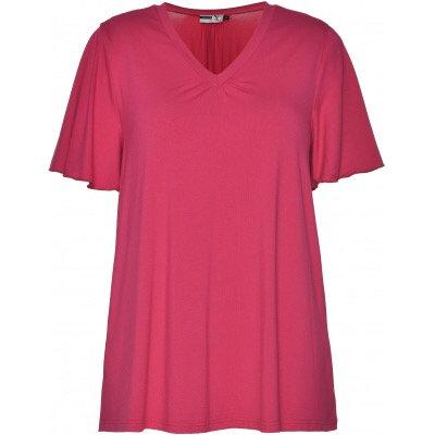 Studio - Locker fallendes Basic-Shirt - Pink