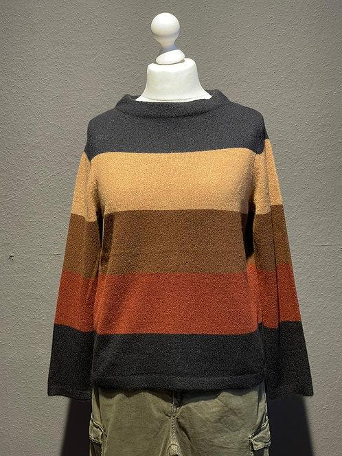 Suza - Strick-Pullover mit Blockstreifen
