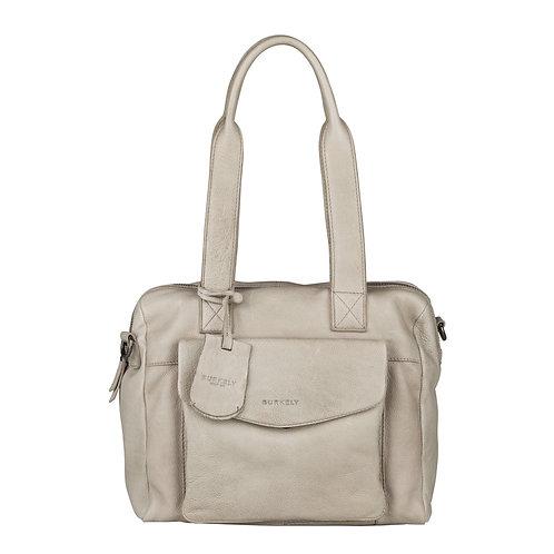 """Tasche """"Just Jackie Handbag S"""" von Burkely - Leder / Farbe Hellgrau"""