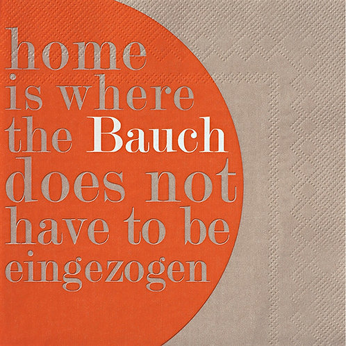 """RÄDER - Servietten """"Home is ... """""""