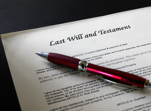 Everyone should have a Will!