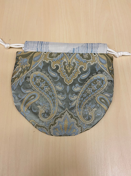 Drawstring Pouch-Paisley