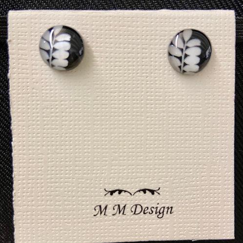 Stud Earrings--Fern