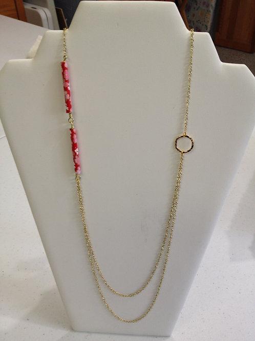 """Long """"Washi"""" Bead Necklace"""