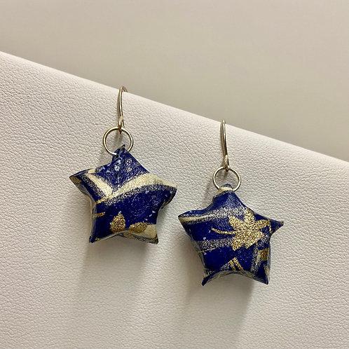 Origami Puffy Star-Blue