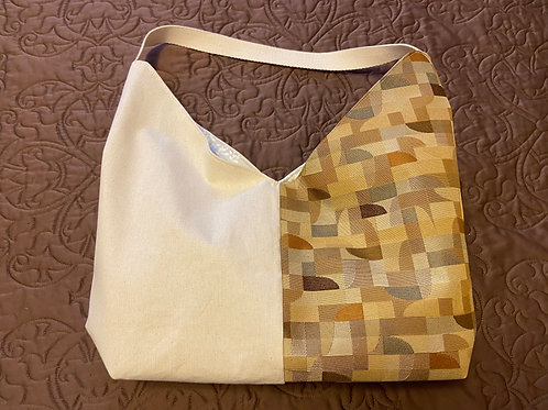 Two-ToneTote--Brown Abstract