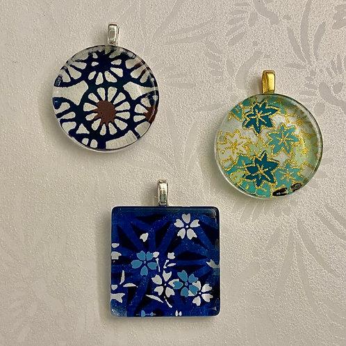 Small Glass Tile Pendants
