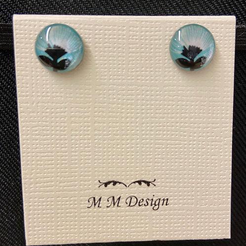 Stud Earrings--Flower