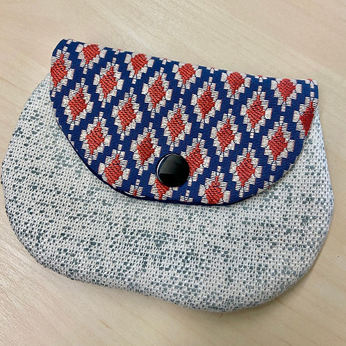 Snap Pouch--Blue & Red