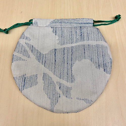 Drawstring Pouch--Blue Weave