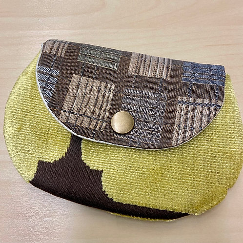 Snap Pouch--Yellow & Brown