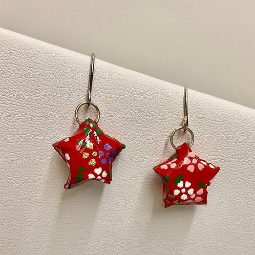 Origami Puffy Stars--SmallRed