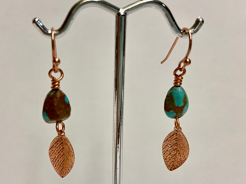 Turquoise with Leaf Dangle