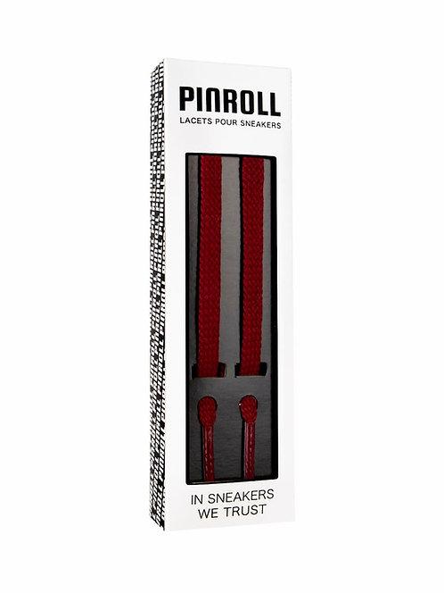 Lacets plats bordeaux - Pinroll