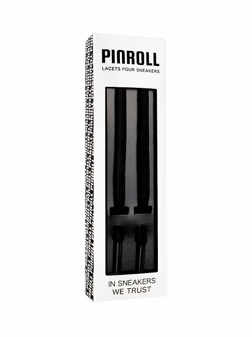 Lacets ronds noirs - Pinroll