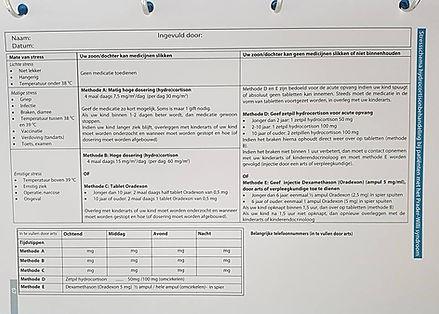 Cartão de Corticoterapia na SPW