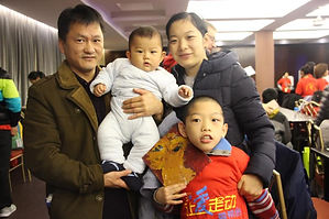 A family supported by ICC's Family Partners Program.
