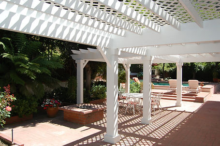Custom designed and built pergolas in Encino CA