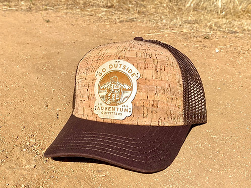 Go Outside Wood Trucker Hat