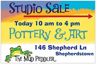 The Mud Peddler Studio Sale sign