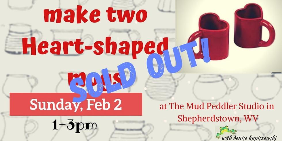 Class Full! Heart Shaped mugs Feb2