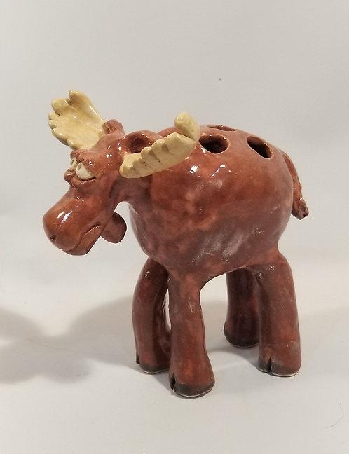Moose vase or pencil holder