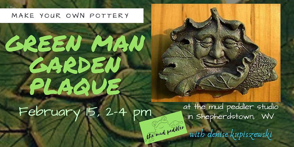 Garden Green Man Plaque