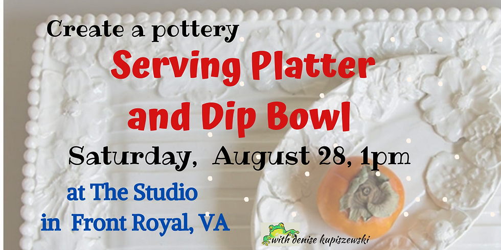 Serving Platter and Dip Bowl