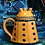 Thumbnail: Handmade Pottery Dalek Coffee Tea Mug with Cover - made to order