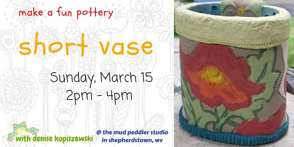 Oval Flower Short Vase
