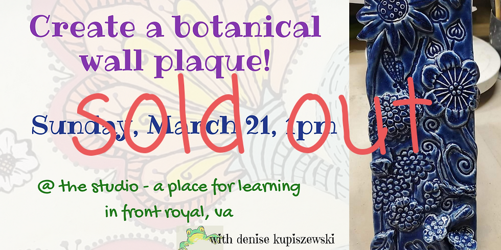 SOLD OUT - Botanical Wall Tile