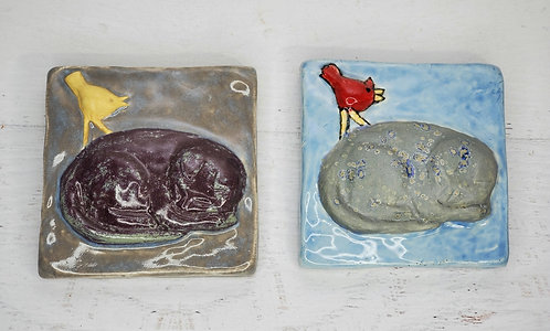 Sleeping Cat tile