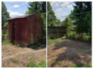 before and after shed removal